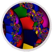 3x1 Abstract 909 Round Beach Towel