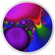 3x1 Abstract 914 Round Beach Towel
