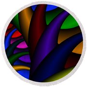 3x1 Abstract 915 Round Beach Towel
