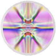 3x1 Abstract 917 Round Beach Towel
