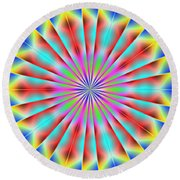 3x1 Abstract 918 Round Beach Towel