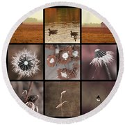 3x3 Brown Round Beach Towel