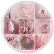 3x3 Pink Round Beach Towel