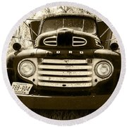 1949 Ford Truck Round Beach Towel