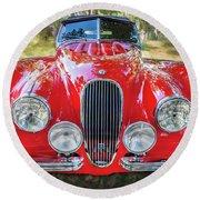 1954 Jaguar Xk 120 Se Ots  Round Beach Towel