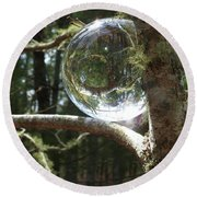 4-22-16--8699 Don't Drop The Crystal Ball, Crystal Ball Photography  Round Beach Towel