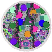 4-8-2015abcdefg Round Beach Towel
