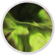 Abstract Aurora Round Beach Towel