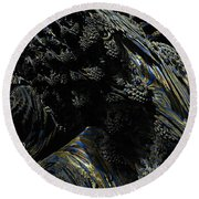 Abstract Fractal Landscape Round Beach Towel