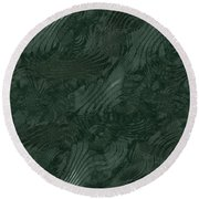 Alien Fluid Metal Round Beach Towel