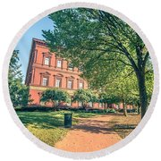 Architecture And Buildings On Streets Of Washington Dc Round Beach Towel