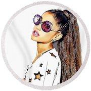 Ariana Grande Round Beach Towel