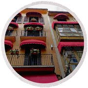 Artistic Architecture In Palma Majorca, Spain Round Beach Towel