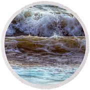 Atlantic Waves Round Beach Towel