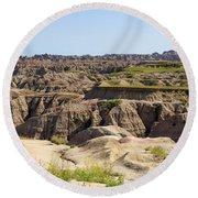 Badlands National Park South Dakota Round Beach Towel
