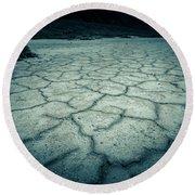 Badwater Basin Death Valley Salt Formations Round Beach Towel