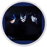 Batman Returns 1992 Round Beach Towel
