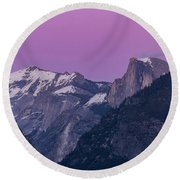 Beauty Of Yosemite Round Beach Towel