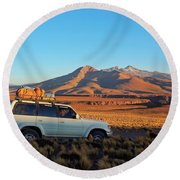 Bolivia Round Beach Towel