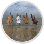 4 Cellos... - 4 Violoncelles... Round Beach Towel