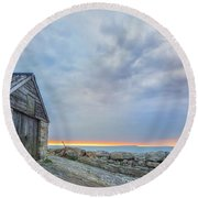 Chapman's Pool - England Round Beach Towel