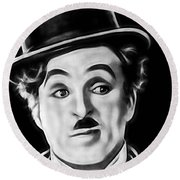 Charlie Chaplin Collection Round Beach Towel