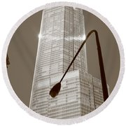 Chicago Skyscraper Round Beach Towel