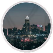Early Morning In Charlotte Ncorth Carolina January 2018 Round Beach Towel
