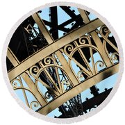 Eiffel Tower Detail Round Beach Towel