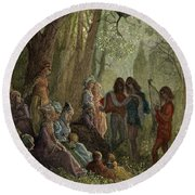 Eleanor Of Aquitaine Round Beach Towel