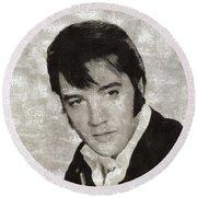 Elvis Presley, Legend  Round Beach Towel