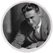 F. Scott Fitzgerald Round Beach Towel