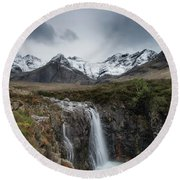 Fairy Pools Of River Brittle Round Beach Towel