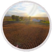 Farming Round Beach Towel