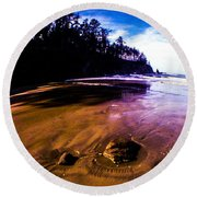 Fisheye Camera Round Beach Towel