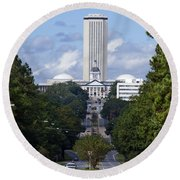 Florida State Capitol Building  Round Beach Towel