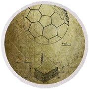 Football Patent Round Beach Towel