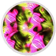 Fractal Modern Art Seamless Generated Texture Round Beach Towel