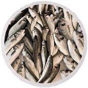 Fresh Fish Round Beach Towel