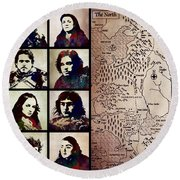 Game Of Thrones. House Stark. Round Beach Towel