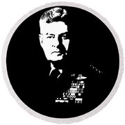 General Curtis Lemay Round Beach Towel