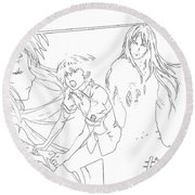 Guilty Crown Round Beach Towel