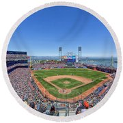Home Of The San Francisco Giants Round Beach Towel
