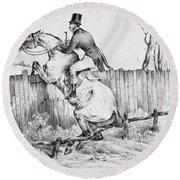 Horserider, C1840 Round Beach Towel