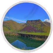 Idaho Landscape Round Beach Towel
