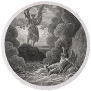 Illustration By Gustave Dore 1832-1883 Round Beach Towel