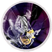 Joe Bonamassa Blues Guitarist Art Round Beach Towel