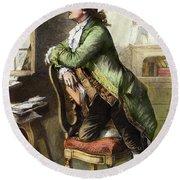 Johann Goethe, 1749-1832 Round Beach Towel