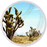 Joshua Tree Desert Round Beach Towel