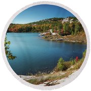 Killarney Provincial Park In Fall Round Beach Towel